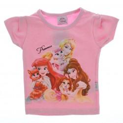 Blusa Princesas Disney Infantil Menina Tecido Glitter 27647