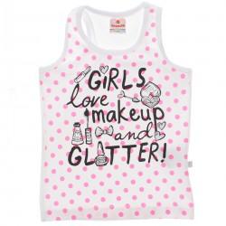 Blusa Regata Brandili Infanti Menina Girls Makeup Poá 29888