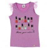 Blusa Regata Extreme Juvenil Menina Chose Your Color Renda -