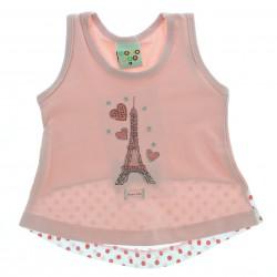Blusa Regata Have Fun Infatil Bebê Menina Torre Eifel