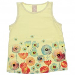 Blusa Regata Infantil Colorittá Floral com Strass 30566