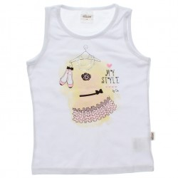 Blusa Regata Infantil Elian My Style Vestido Strass 30603