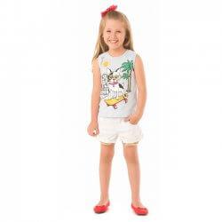 Blusa Regata Infantil Menina Livy Cachorro Skate 31785