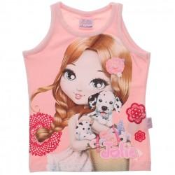 Blusa Regata Jolie Infantil Estampa Boneca Gel 30673