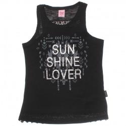 Blusa Regata Magic Girls Juvenil Sun Shine Renda 30135