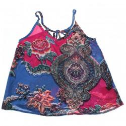 Blusa Regata Rovitex Teen Viscose Alça Floral 30775