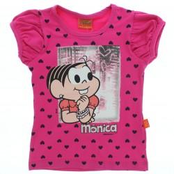 Blusa Turma da M�nica Infantil Estampa Cora��es 28651