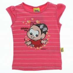 Blusa Turma da Mônica Infantil Menina Listrada  28650