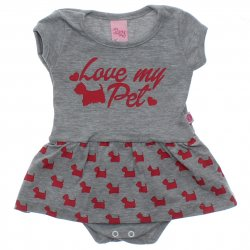 Body Bebê Livy Love My Pet Babado 31794