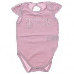 Body Curto Paraíso Bebê Menina Liso Strass Sortido 30343