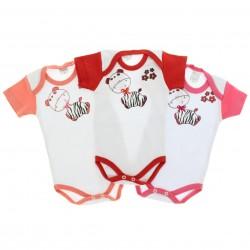 Body Kit Petutinha Bebê Menina c/3 Curto Girafa Laço 29115