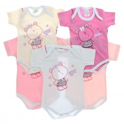 Body Kit Petutinha Bebê Menina c/3 Curto Ursa Alegria 29116