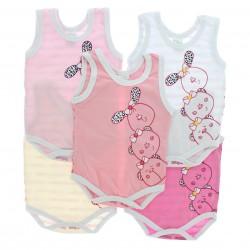 Body Kit Petutinha Bebê Menina c/3 Curto Ursinhas Laços 2912