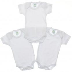 Body Kit Petutinha Bebê Unissex Curto Branco - 29859