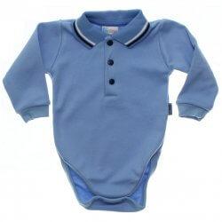 Body Longo Paraíso Bebê Menino Polo com botões 31686