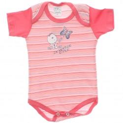 Body Petutinha Bebê Menina Curto Listras Borboleta 29874
