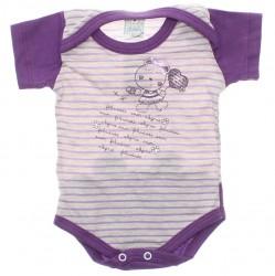 Body Petutinha Bebê Menina Curto Listras Urso Bumbum 29880