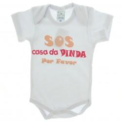 Body Petutinha Bebê Menina Frases Sortidas Dinda 20106