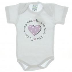 Body Petutinha Bebê Menina Frases Sortidas Titia 29100