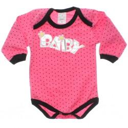 Body Petutinha Beb� Menina Longo Baby Flor Poa 29866