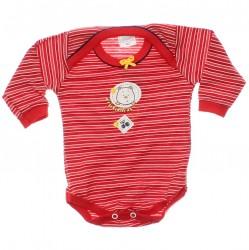 Body Petutinha Bebê Menina Longo Listras Frutas 29867