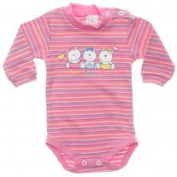 Body Petutinha Bebê Menina Longo Listras Love Ursa 29864