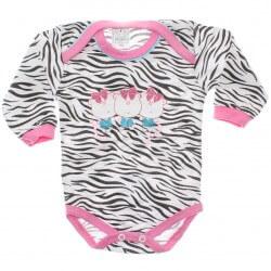 Body Petutinha Bebê Menina Longo Zebrinha Urso 29865