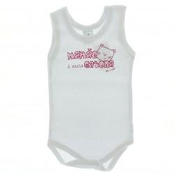 Body Petutinha Bebê Menina Regata Frases Sortidas 29099