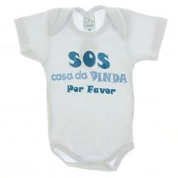 Body Petutinha Bebê Menino Frases Sortidas Dinda 29107