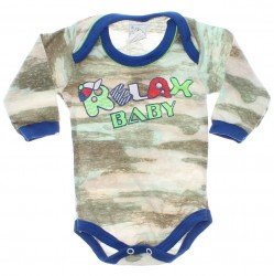 Body Petutinha Bebê Menino Longo Camuflado Relax 29869