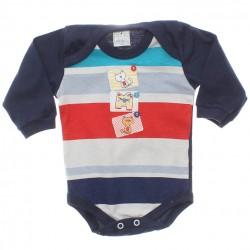 Body Petutinha Bebê Menino Longo Gato Botões 29870