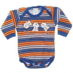 Body Petutinha Bebê Menino Longo Listras Travessuras 29868
