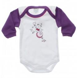 Body Petutinha Longo Bebê Menina Urso Coração - 29884