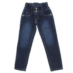 Calça Jeans Akiyoshi Infantil Menina Bordado Love Atras