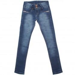 Calça Jeans Akiyoshi Infantil Menina Botão Coração Strass 30461