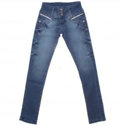 Calça Jeans Akiyoshi Infantil Menina Botão Triplo Strass 30460