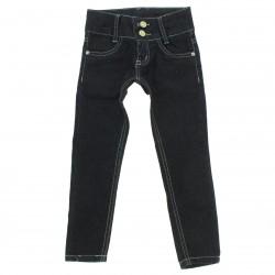 Calça Jeans Akiyoshi Infantil Menina Skinny Aplique Bordado