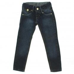 Calça Jeans Akiyoshi Infantil Menina Skinny Lapela Bolso