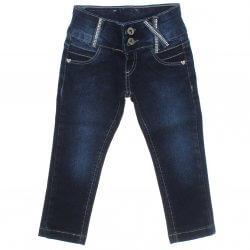 Calça Jeans Akiyoshi Infantil Menina Strass Pérola 31390