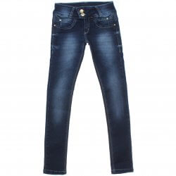 Calça Jeans Akiyoshi Juvenil Menina Botão Duplo Rebit 31389
