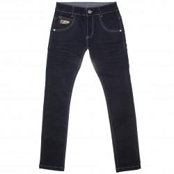 Calça Jeans Akiyoshi Juvenil Menino Bordado Denim 30457