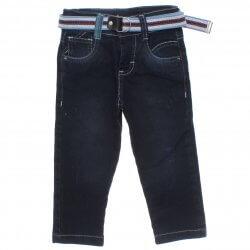 Calça Jeans Arti Colare Infantil Menino Bolso Risca Gis Cinto 31402