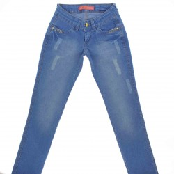 Calça Jeans Ferrovie Juvenil Menina Bolso Frutacor - 25774