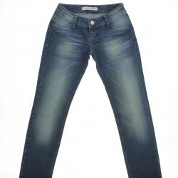 Cal�a Jeans Ferrovie Juvenil Menina Slim Bigodinho Recorte 2