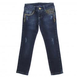 Calça Jeans Garota Lua Infantil Juvenil Menina Tachas 29161