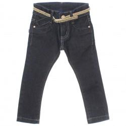Calça Jeans Jump Club Infantil Menina Bordado Cinto 29945