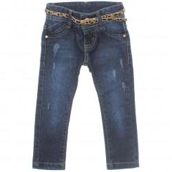 Calça Jeans Jump Club Infantil Menina Cinto Onça 29946