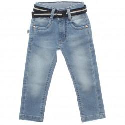 Calça Jeans Jump Club Infantil Menino Cinto Presponto 29947