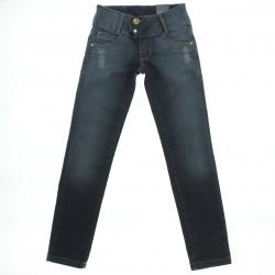 Calça Jeans Pull-ga Infantil Juvenil Menina Skinny Botão Dup