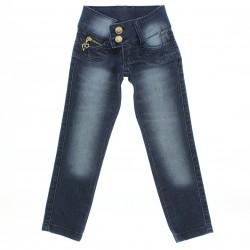 Calça Jeans Sonho de Amor Menina Bolso Coração 28488